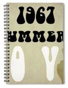 1967 Summer Of Love Newspaper Spiral Notebook