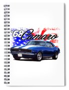 1968 Camaro Stars And Stripes Spiral Notebook