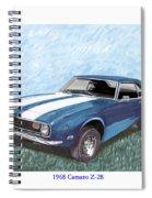 1968 Chevrolet Camaro Z 28 Spiral Notebook