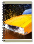 1968 Dodge Charger Coupe Spiral Notebook