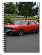1968 Dodge Charger Rt Bonacci Spiral Notebook