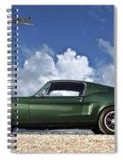 1968 Ford Bullitt Mustang Gt 390 Fastback, P-51 Mustang, Plymouth Rock Chicken Spiral Notebook