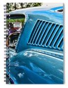 1968 Ford Mustang Fastback In Blue Spiral Notebook