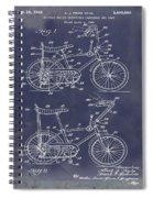 1968 Schwinn Stingray Patent In Blueprint Spiral Notebook