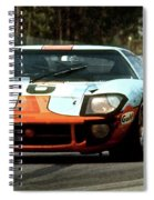 1969 24 Hours Of Le Mans Ford Gt40 First Place, Mixed Media  Spiral Notebook