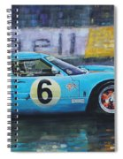 1969 Le Mans 24 Ford Gt40 Jacky Ickx Jackie Oliver Winner Spiral Notebook