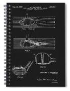 1969 Wood Golf Club Patent Spiral Notebook