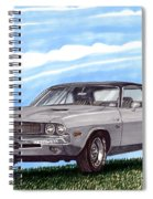 1970 Dodge Challenger Spiral Notebook