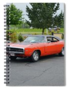 1970 Hemi Charger Rt Asher Spiral Notebook