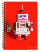 1970s Wind Up Dancing Robot Spiral Notebook