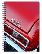 1971 Chevy Nova - Red Spiral Notebook