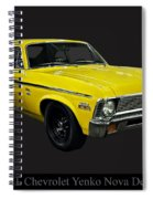 1971 Chevy Nova Yenko Deuce Spiral Notebook