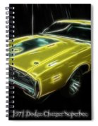 1971 Dodge Charger Superbee - Electric Spiral Notebook