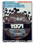 1971 Porsche World Champion Poster Spiral Notebook