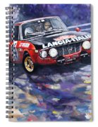 1972 Rallye Monte Carlo Lancia Fulvia 1600hf Munari Mannucci Winner Spiral Notebook