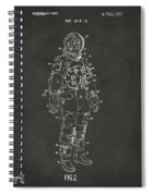 1973 Astronaut Space Suit Patent Artwork - Gray Spiral Notebook