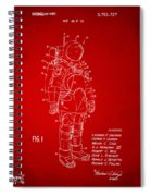 1973 Space Suit Patent Inventors Artwork - Red Spiral Notebook