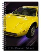 1974 Maserati Merak Spiral Notebook