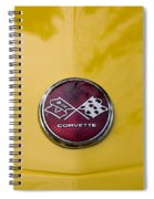 1976 Canary Yellow Vette Hood Emblem Spiral Notebook