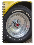 1976 Canary Yellow Vette Wheel Spiral Notebook