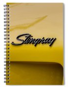 1976 Corvette Stingray Side Emblem Spiral Notebook