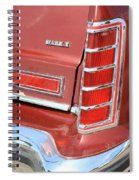 1977 Lincoln Continental Mark V With Tail Lights And Logo Spiral Notebook