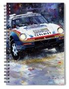 1986 Porsche 959/50 #185 2nd Dakar Rally Raid Ickx, Brasseur Spiral Notebook