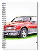 1989 Saleen Mustang Convertible Spiral Notebook