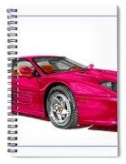 Ferrari F 512 M Russo 1995 Spiral Notebook