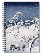 19th C. Snow On Asuka Hill Spiral Notebook