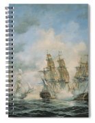 19th Century Naval Engagement In Home Waters Spiral Notebook