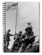 1st Flag Raising On Iwo Jima  Spiral Notebook