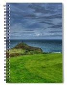 1st Green Cape Cornwall Golf Club Spiral Notebook
