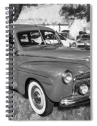 1942 Ford Super Deluxe Sedan Bw  Spiral Notebook