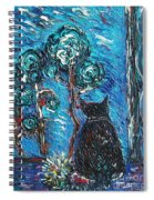 A Black Cat Spiral Notebook