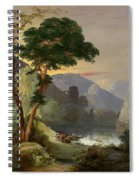 A Mountain Lake In The Italian Alps Spiral Notebook