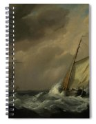 A Small Dutch Vessel Close-hauled In A Strong Breeze Spiral Notebook