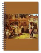 A Venetian Fan Seller Henry Woods Spiral Notebook