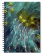 Abstract 92 Digital Oil Painting On Canvas Full Of Texture And Brig Spiral Notebook