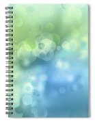 Abstract Blue Green Circles 3 Spiral Notebook