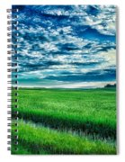 An Iowa Sunset Spiral Notebook
