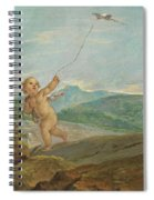Angel Flying A Kite Spiral Notebook