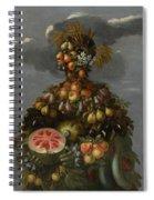 Anthropomorphic Allegory Of Summer Spiral Notebook