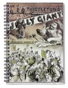 Anti-immigrant Cartoon Spiral Notebook