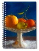 Apple, Lemon And Mandarins. Valencia. Spain Spiral Notebook