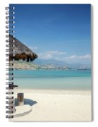 Areia Branca Tropical Beach View Near Dili In East Timor Spiral Notebook