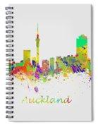 Auckland New Zealand Skyline Spiral Notebook