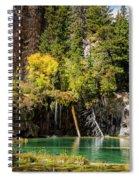 Autumn At Hanging Lake Waterfall - Glenwood Canyon Colorado Spiral Notebook