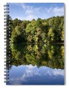 Autumn Sunrise Reflection Landscape Spiral Notebook
