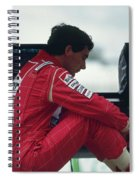 Ayrton Senna. 1992 French Grand Prix Spiral Notebook